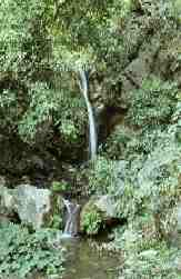 Waterfall supplies water to Tat Wale Baba Ashram.
