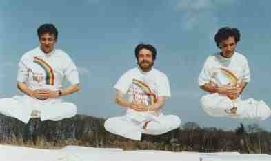 First Stage of Yogic Flying (hopping).